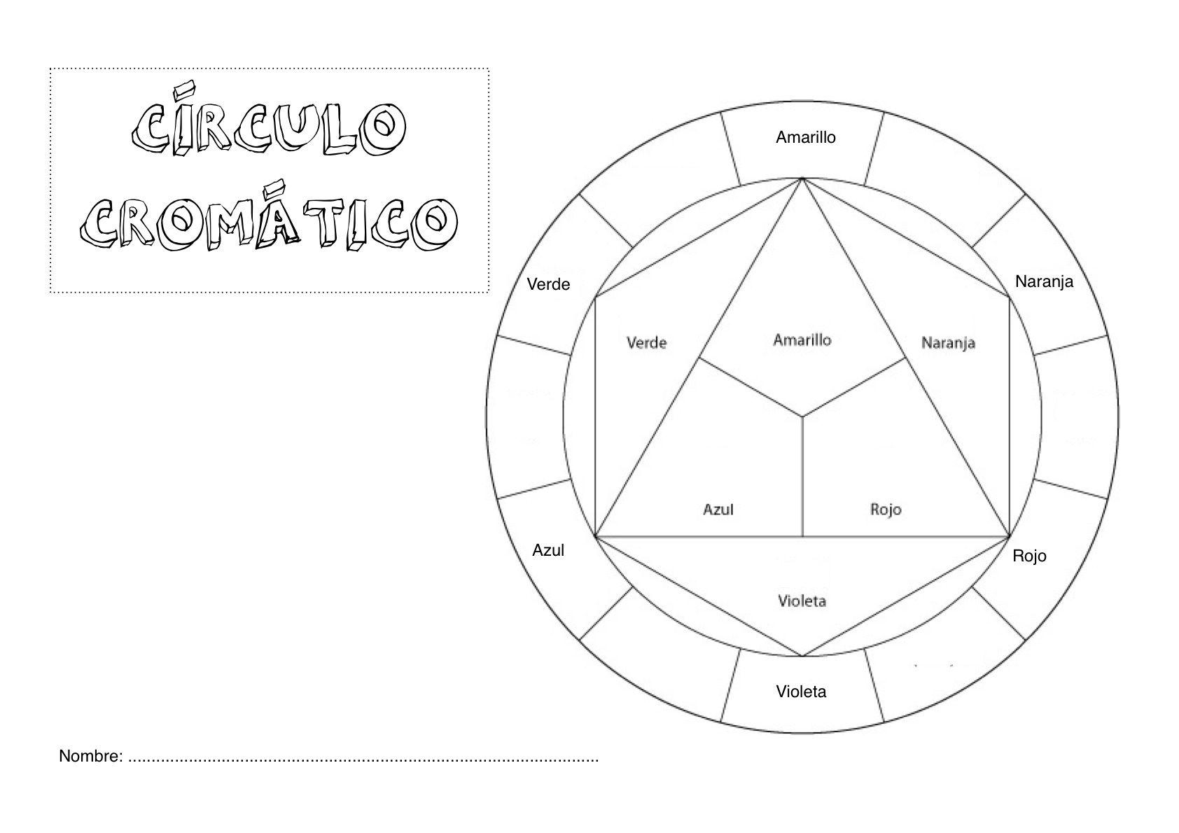 CIRCULO CROMATICO PARA COLOREAR | circuló cromatico | Pinterest ...