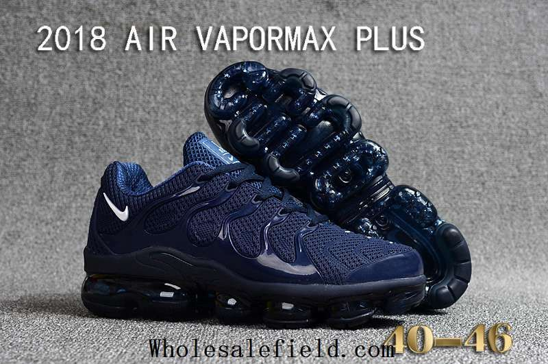 6d9688d7e4e Nike Air Vapormax TN Plus 2018 Navy Blue White Men Shoes