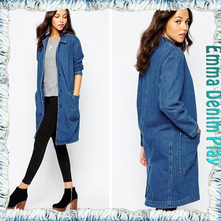 Super Long Korean Style Leisure Ladies Lapel Slim Long Sleeves Coat Outwear Denim Long Dresses From Factory China