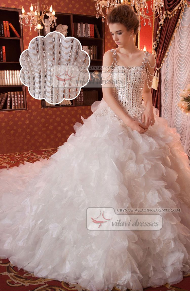 Retail And Wholesale Princess Leaf Skirt Sequin Crystal Rhinestone
