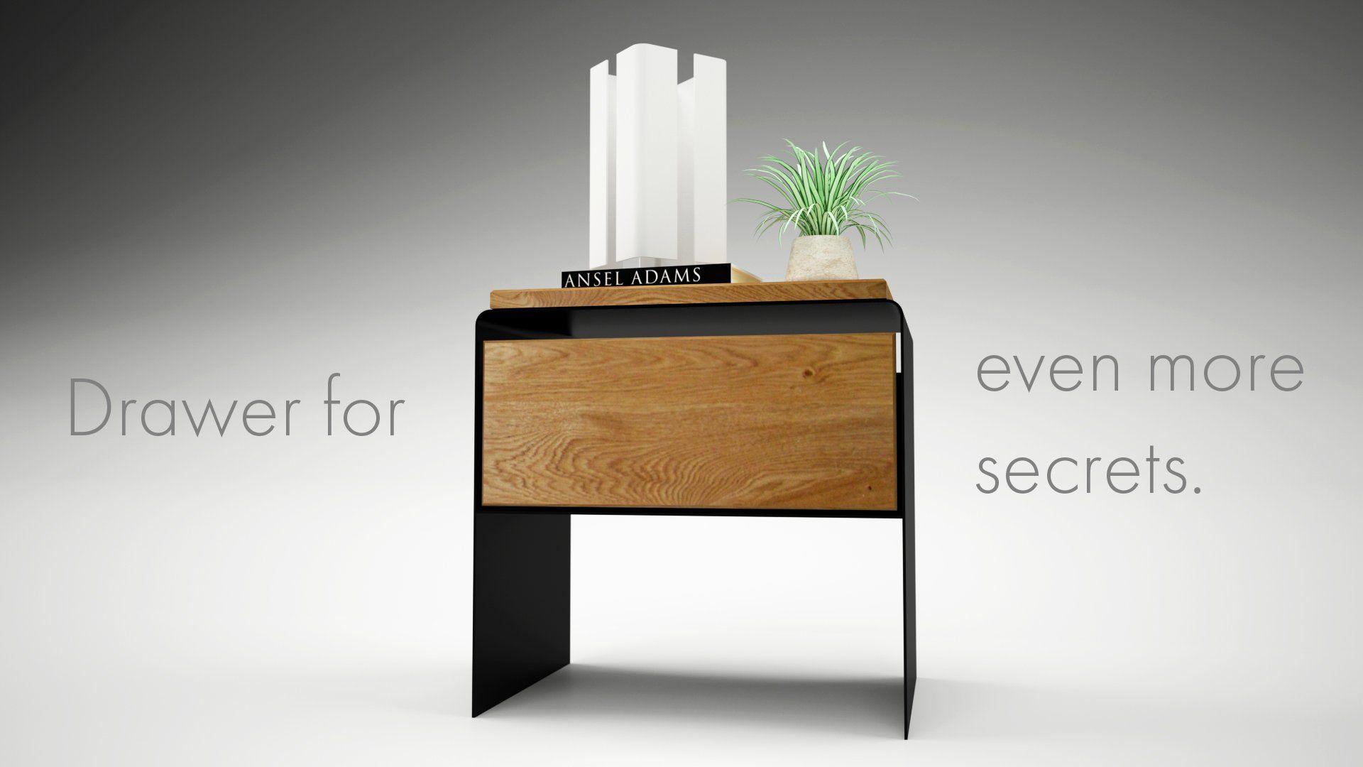 Wunderbar Nachttisch Weiß Modern Holz Schwarz Grau Buche Design