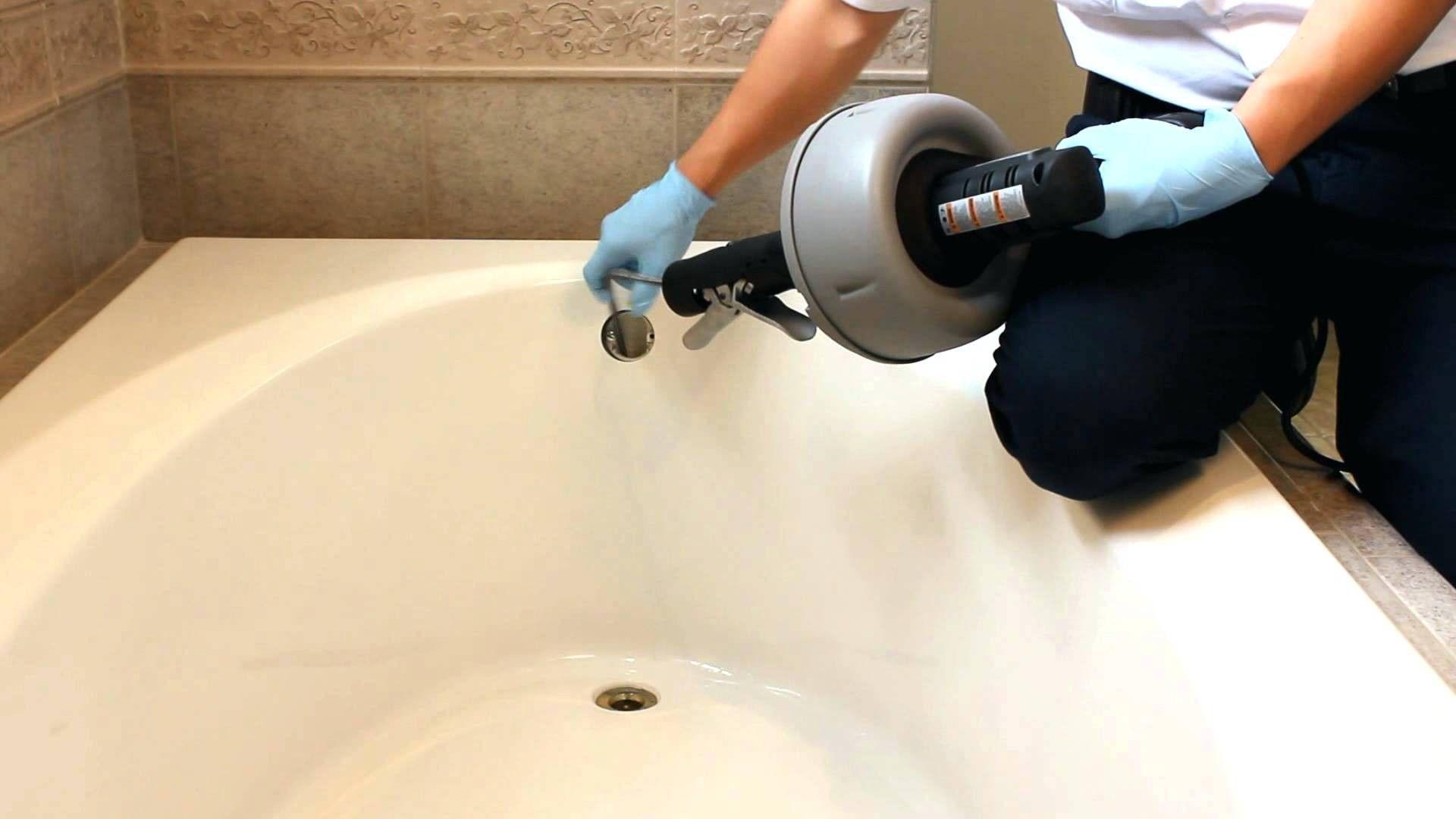 Bathtub drain clogged standing water bathroom sink clog