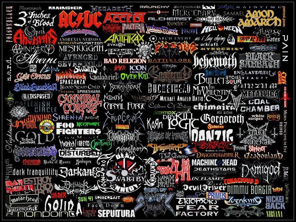 Mostly Metal Logo Collage By Warzard On Deviantart Heavy Metal Music Metallic Logo Metal Band Logos