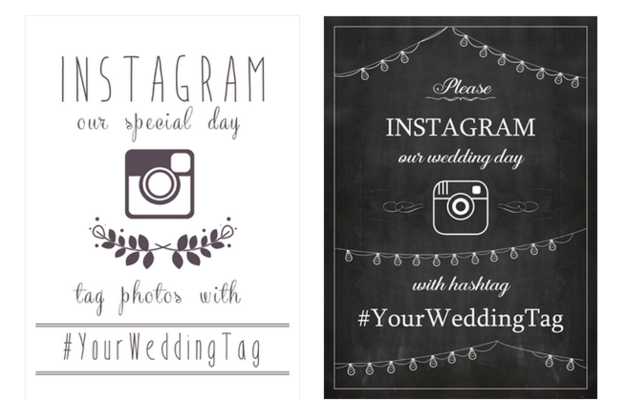 17 Ways To Collect Your Guests Wedding Photos Instagram Wedding Sign Instagram Wedding Wedding Hashtag