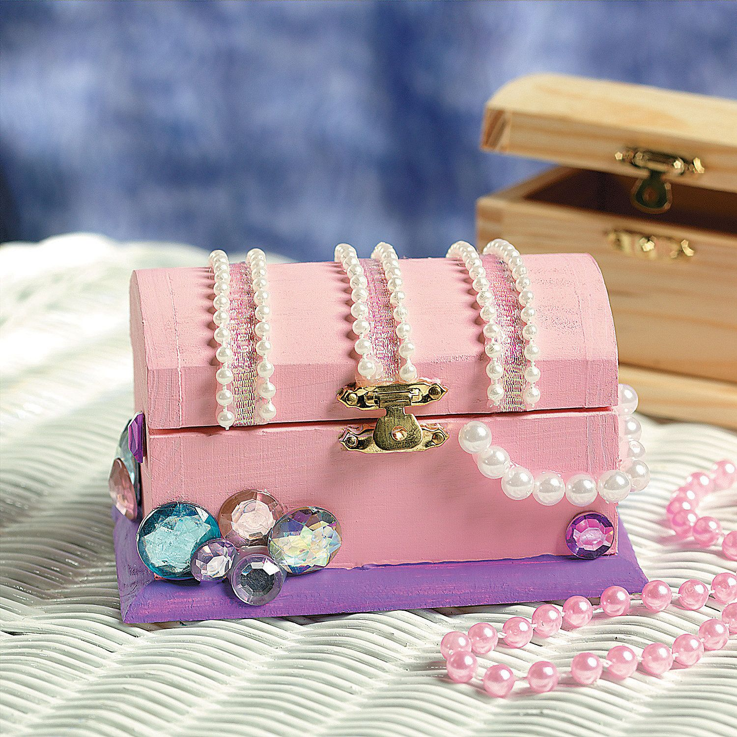 DIY Unfinished Wood Treasure Boxes - Oriental Trading ...