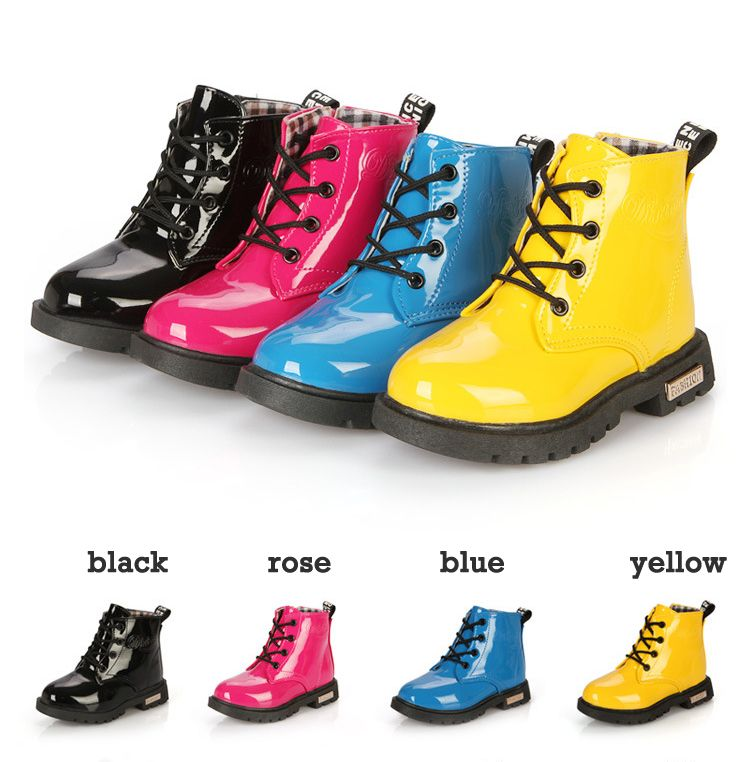 >> Click to Buy << New 2015 Botas Infantil PU Leather Boys Girls Rubber Boots For Children Martin Boots Kids Snow Boots Sneakers Hot Item #Affiliate