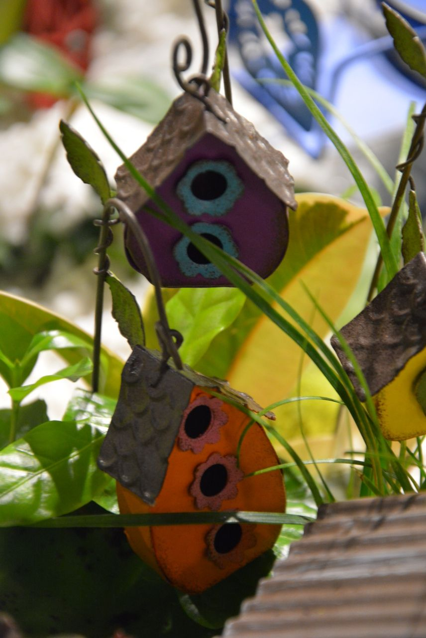 Shelley B Home and Holiday - Miniature Garden Hanging Birdhouse set of 3, $13.99 (http://shelleybhomeandholiday.com/miniature-garden-hanging-birdhouse-set-of-3/)