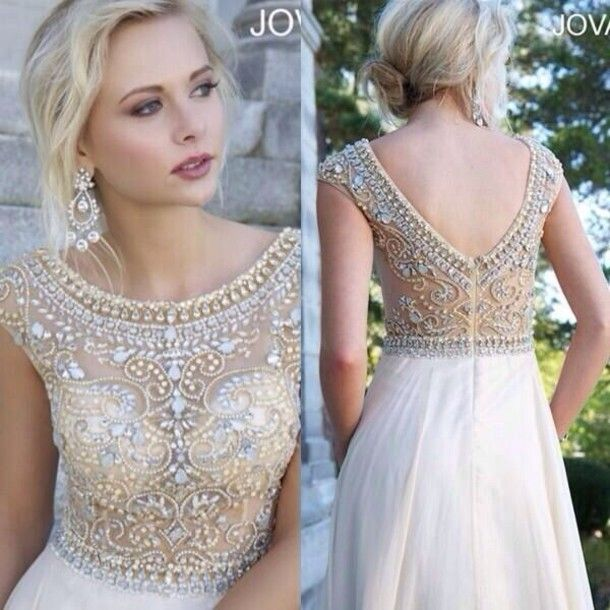 Dress - Gold sequin dress- Dress formal and The great
