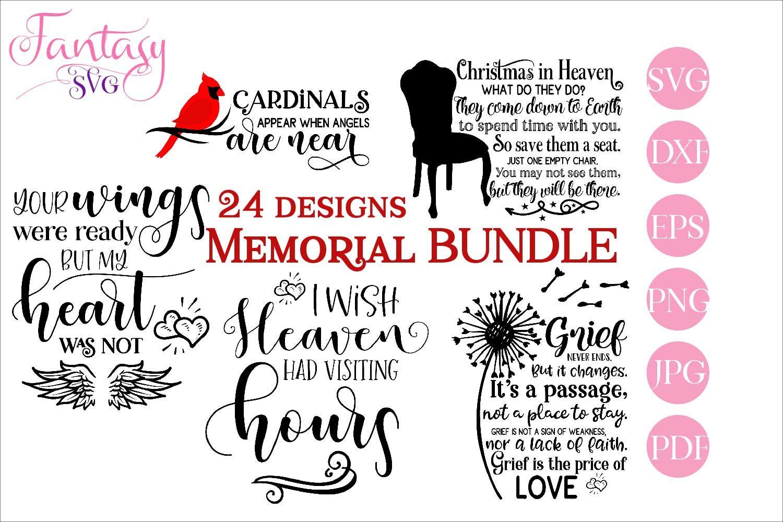 Download Memorial Bundle Quotes (Graphic) by Fantasy SVG in 2020 ...