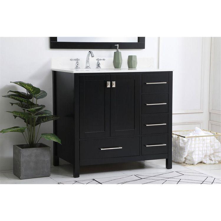 Elegant Decor 36 Inch Single Bathroom Vanity In Black With Backsplash 1484 21 In 2021 Single Bathroom Vanity Bathroom Vanity Vanity Set 36 inch black bathroom vanity