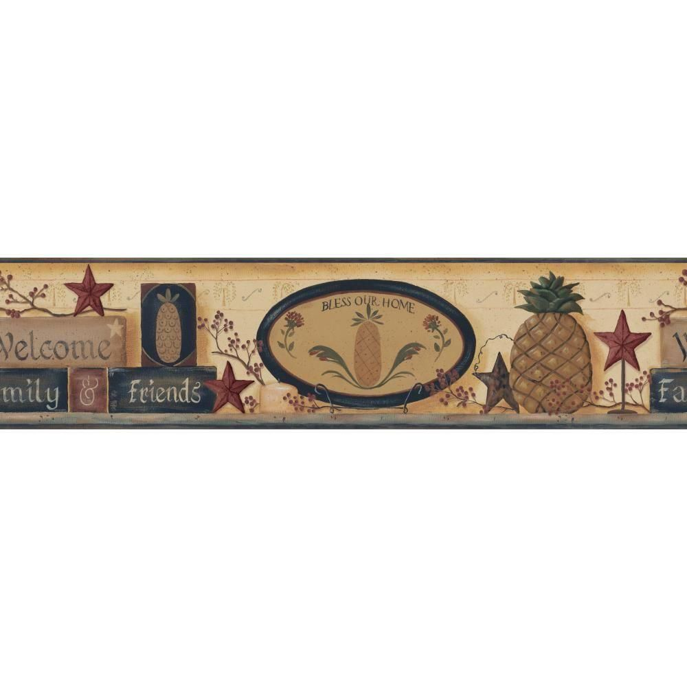 Best York Wallcoverings Inspired By Color Welcome Pineapple 640 x 480
