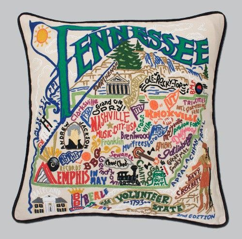 Tennessee Embroidered Catstudio Pillow