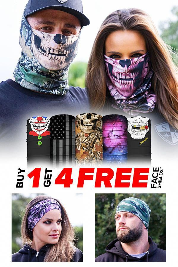 Buy 1 Face Shield Pick Any 4 FREE! 10+ Ways to Wear, SPF