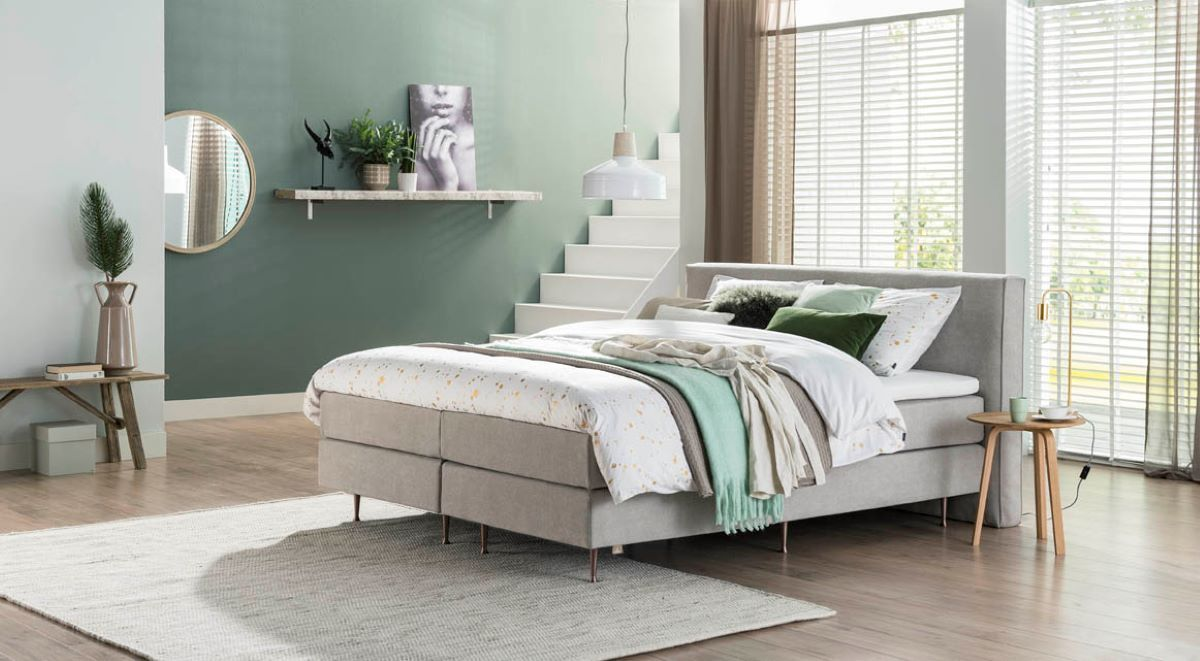 Boxspring 180x200 Grijze Boxspring 180x200 Eastborn Mandurah Voor Thuis In 2019