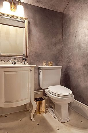Silver Grey Burnished Walls Marble Looking Faux Finish