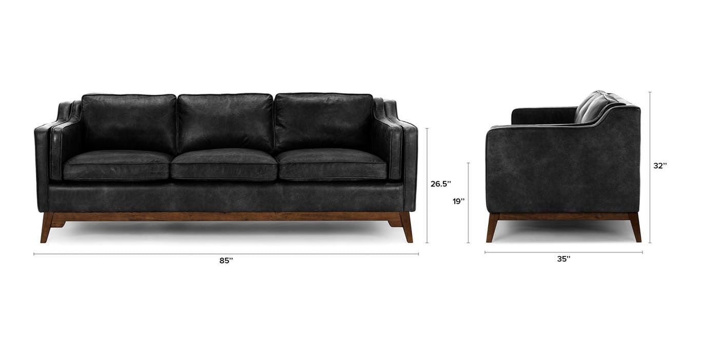 Worthington Oxford Black Sofa Black Sofa Brown Leather Sofa Brown Sofa