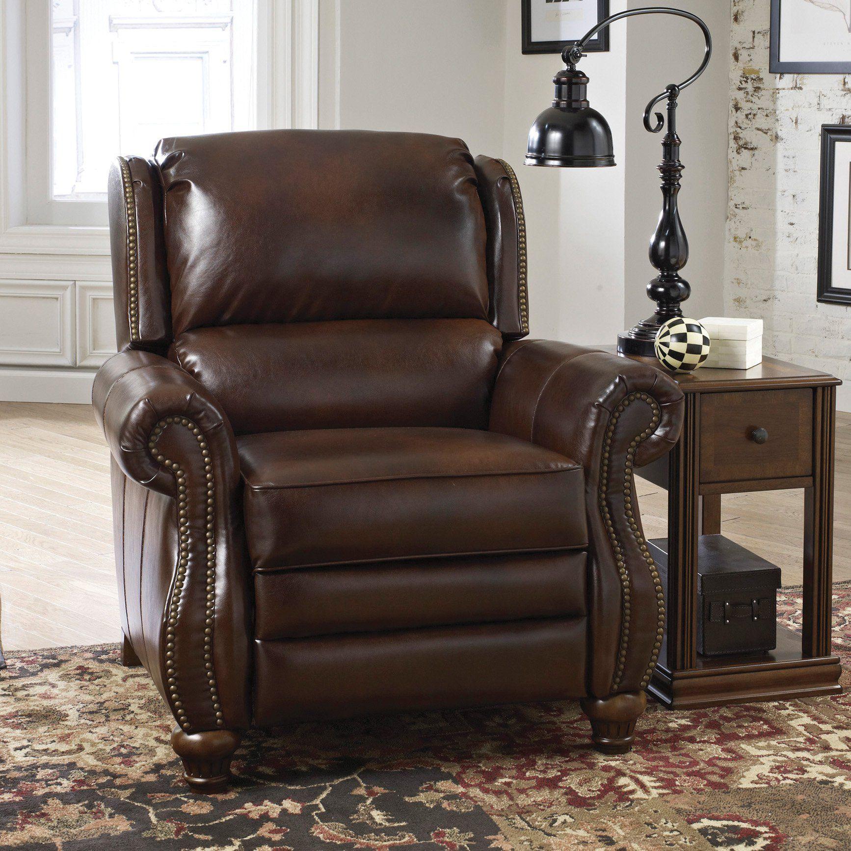 Signature Design By Ashley Elberton Lo Leg Recliner In Espresso Ay 2060030 Recliner Ashley Furniture Furniture