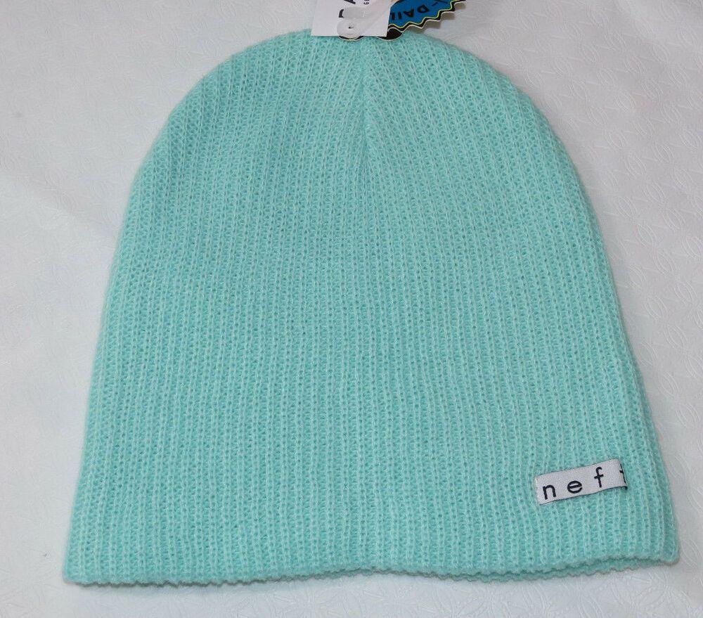 7cdf5623075 NEFF Daily Beanie knit hat skull cap lid NEW One Size Mint Green NF00001  NWT  NEFF  Beanie
