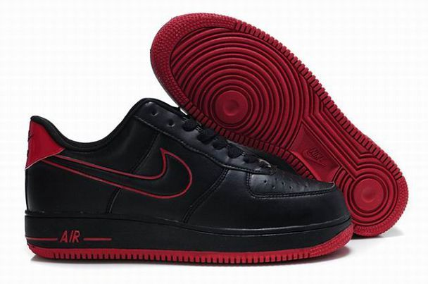 super popular ef6a4 f83cb £85.00 Nike Air Force 1 Low Mens Shoes Dark Red Black