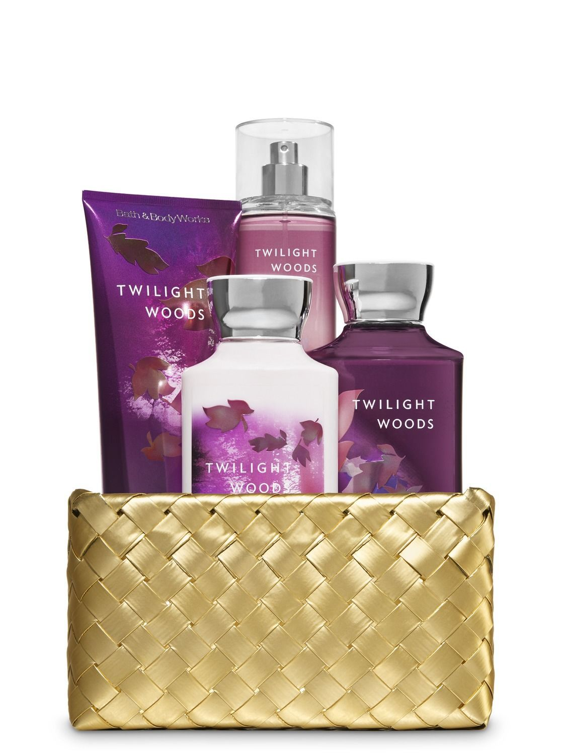 Twilight Woods Gold Woven Basket Gift Kit En 2019 Products Gift