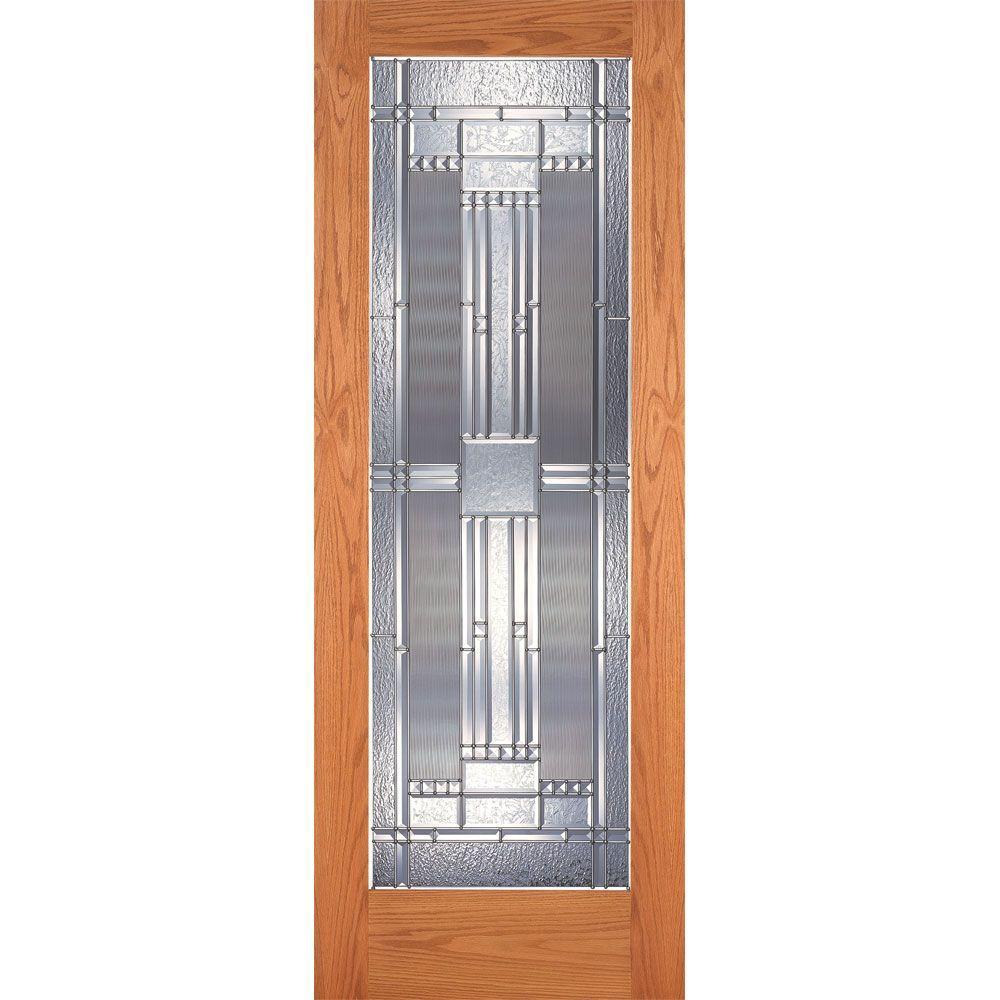 Feather River Doors 32 In X 80 In 1 Lite Unfinished Oak Preston Zinc Woodgrain Interior Door Slab Om15012868z280 Interior Barn Door Hardware Interior Wood Shutters Knotty Pine Doors