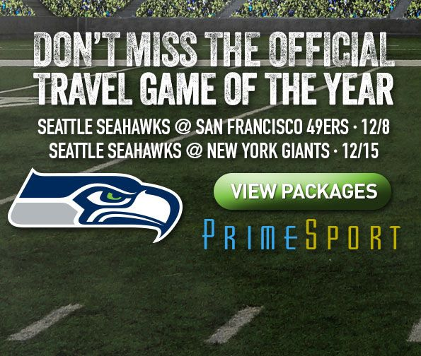 Seattle Seahawks and PrimeSport - Official Travel Game of the Year