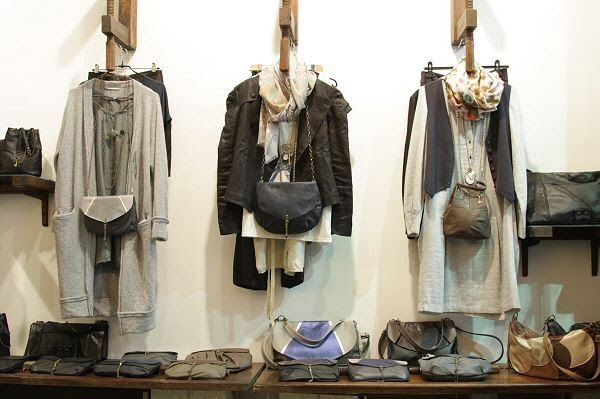 Matieres a Reflexion. Beautiful shop of bags in recycled leather or canvas, rue de Poitou, Paris