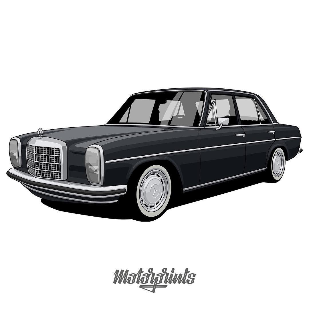 """MotorPrints on Instagram: """"Mercedes-Benz 220 """"Strich-Acht ..."""