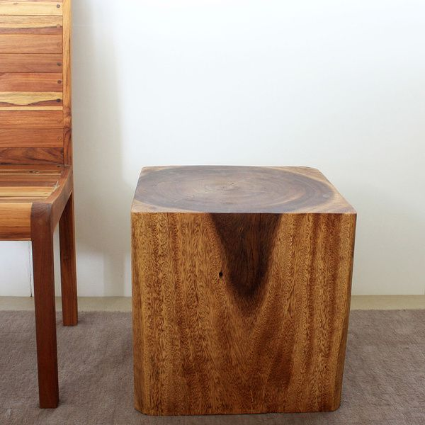 Wooden Cube 18 Walnut Oil End Table (Thailand)   Overstock™ Shopping   Top