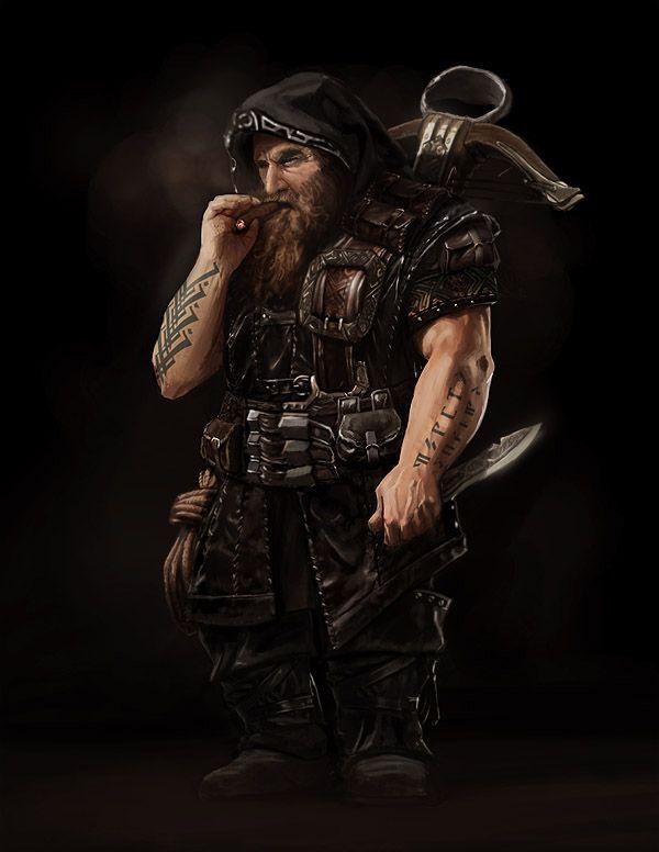 Gret, dwarven rogue | heroes | Fantasy dwarf, Character art