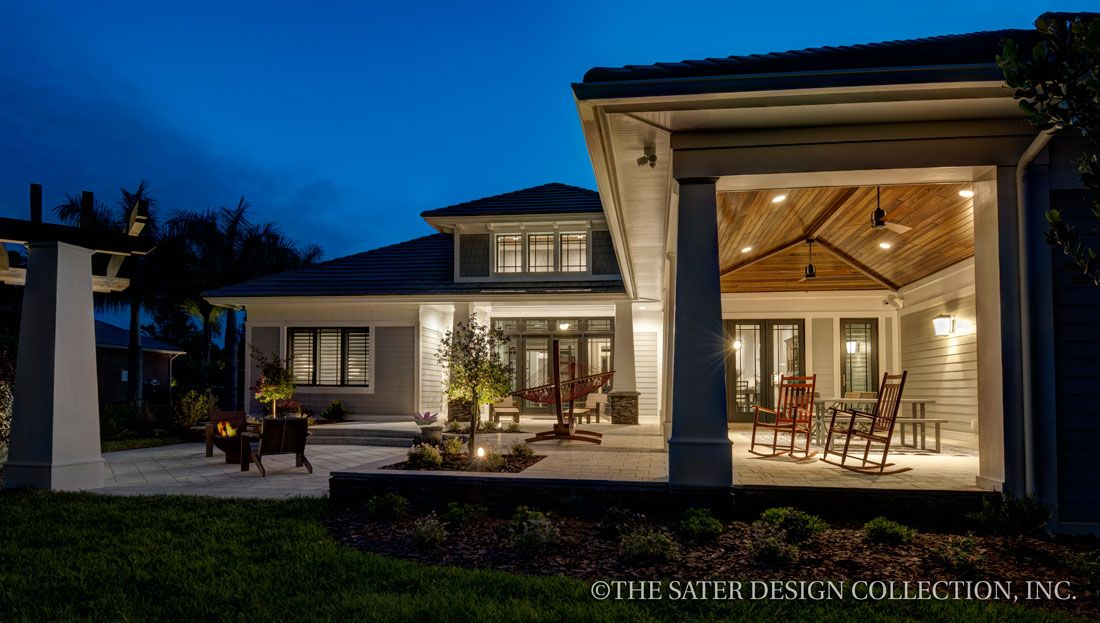 Rear elevation the sater design collection 39 s luxury for Sater home designs