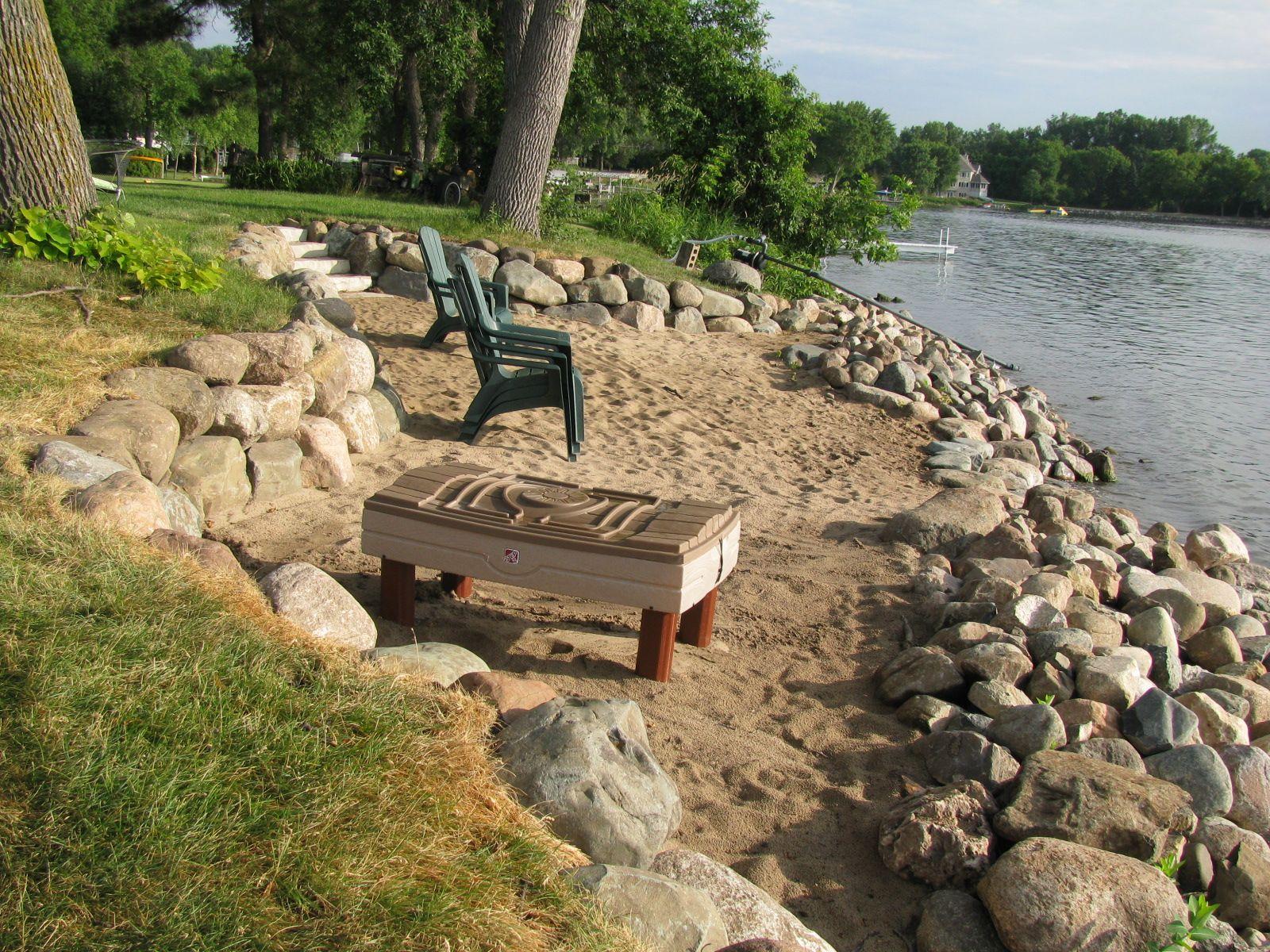 beach retreat with small retaining