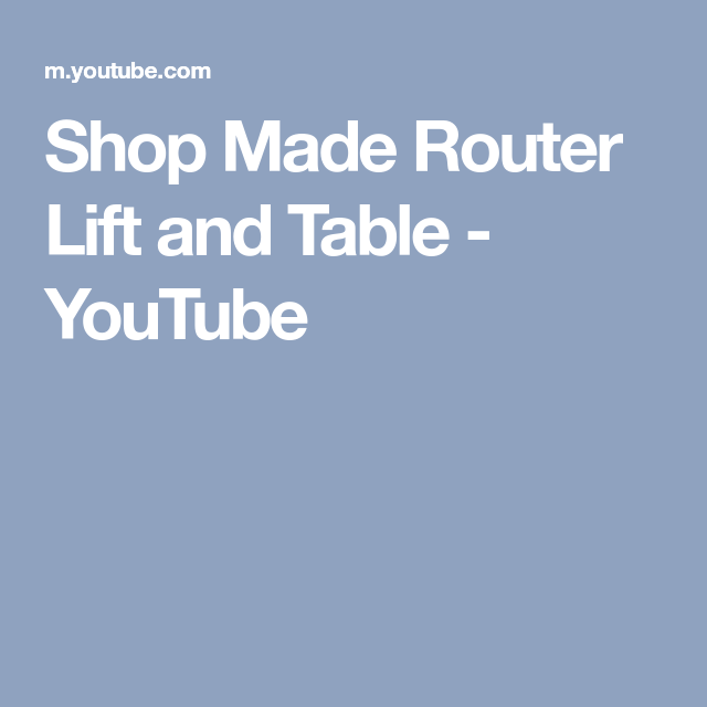 Shop made router lift and table youtube shop tool tips shop made router lift and table youtube greentooth Image collections