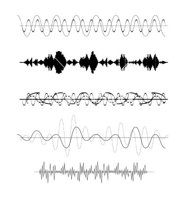 Set of sound wave vector | A Friendly Wave in 2019 | Waves vector