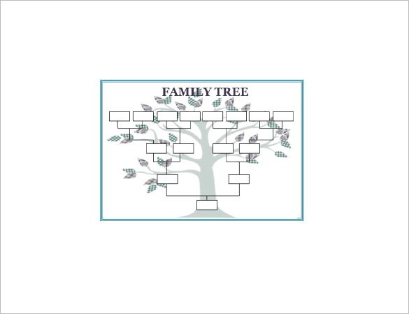 Large Family Tree Template Free Word Excel Format Download Simple