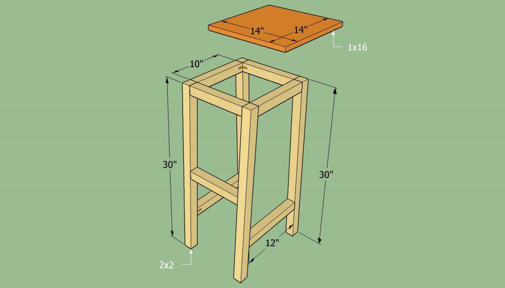 How To Build A Bar Stool Howtospecialist How To Build Step By Step Diy Plans Diy Bar Stools Bar Chairs Diy Diy Stool