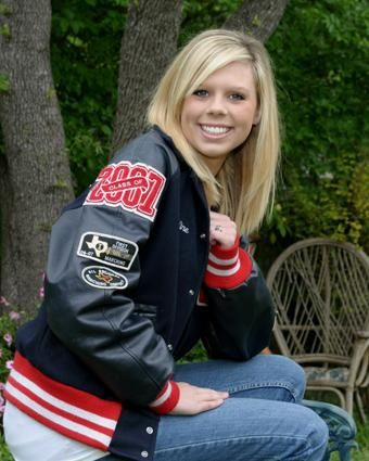 Senior Wearing Letter Jacket  Senior Jackets High School Seniors
