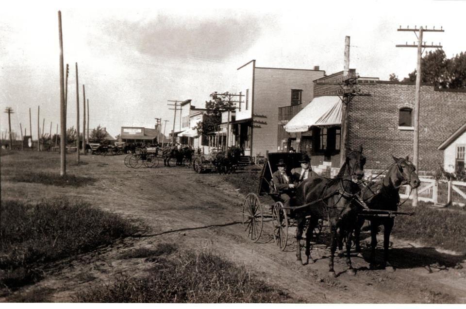 Downtown Lenexa in 1905 Johnson county kansas, City