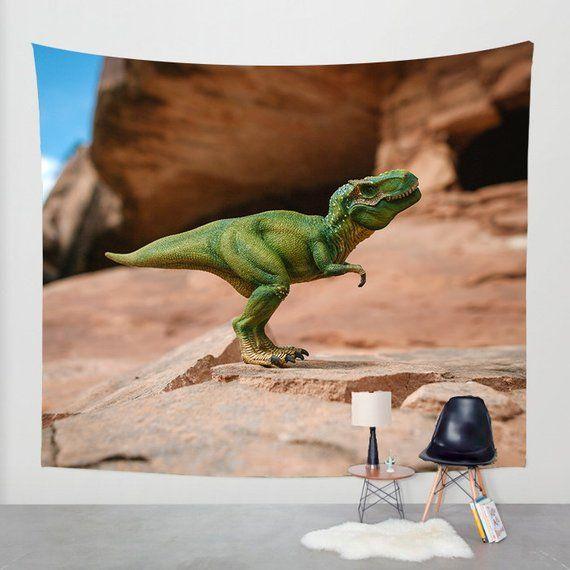 Dinosaur Wall Tapestry, Boys Room Decor, Kids Room Decor
