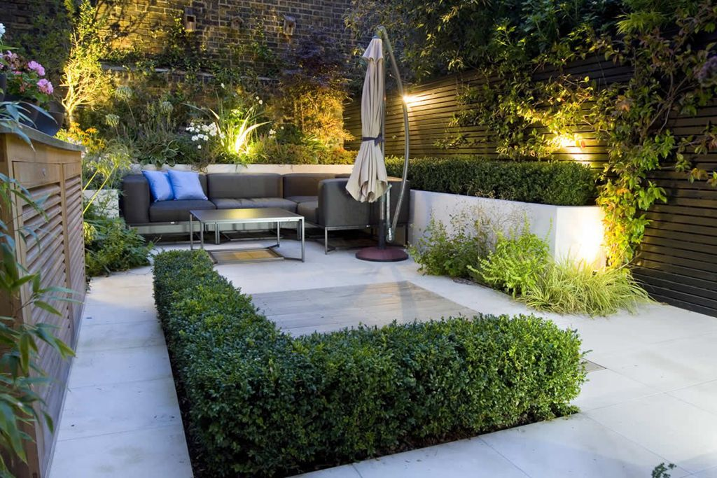 Exteriors:Exotic Beautiful Small Modern Patio Garden Design Ideas ...