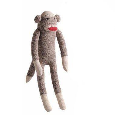 Multipet International 48084 4 X 38 X 10 Sock Monkey Dog Toy