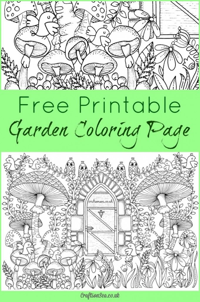 20 Free Printable Gardening Adult Coloring Pages Garden Coloring