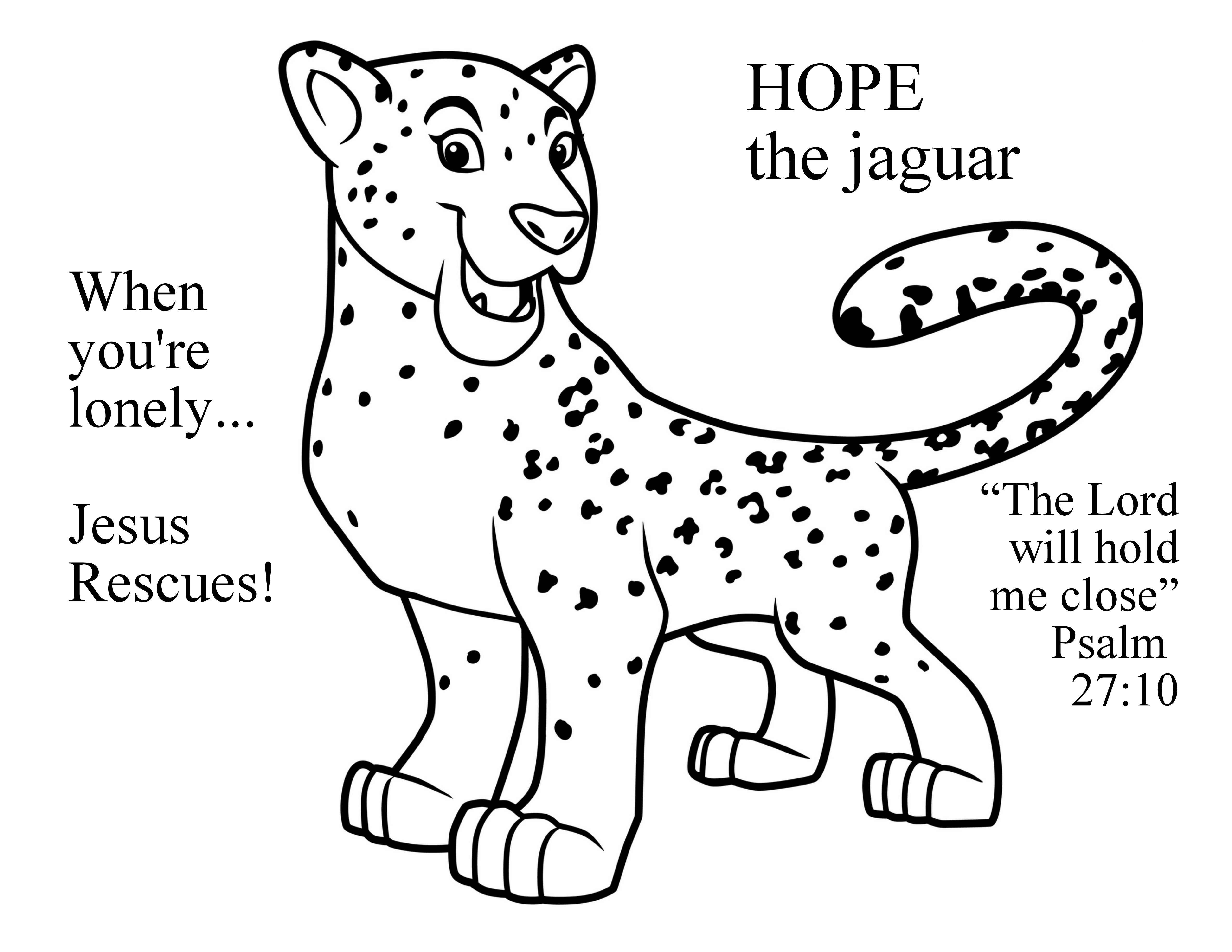 Day 1 Hope Preschool Coloring Page