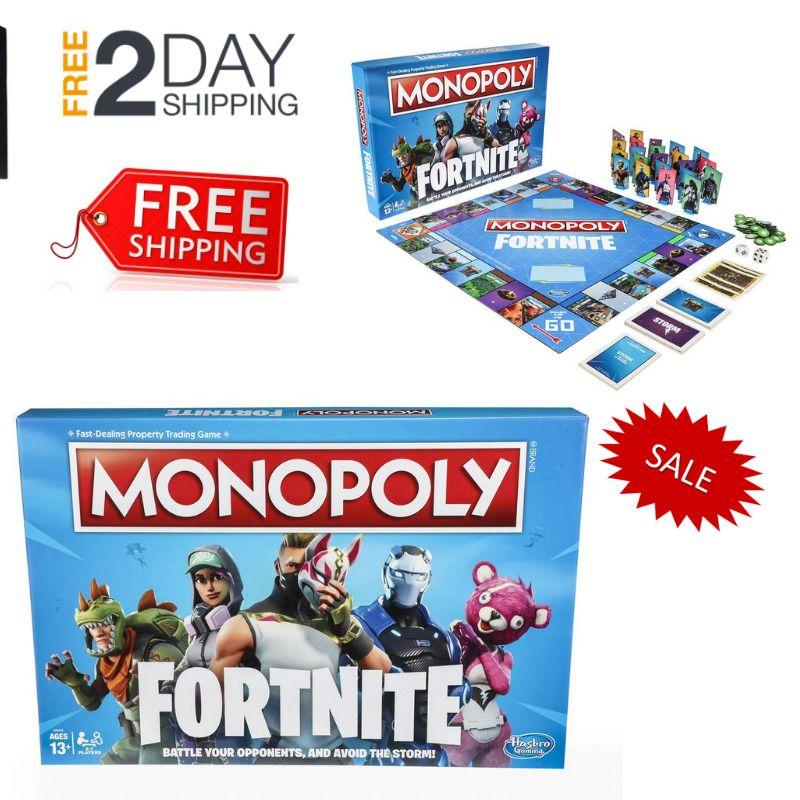 Hasbro Season Monopoly Fortnite Game Edition Board Inspired Video