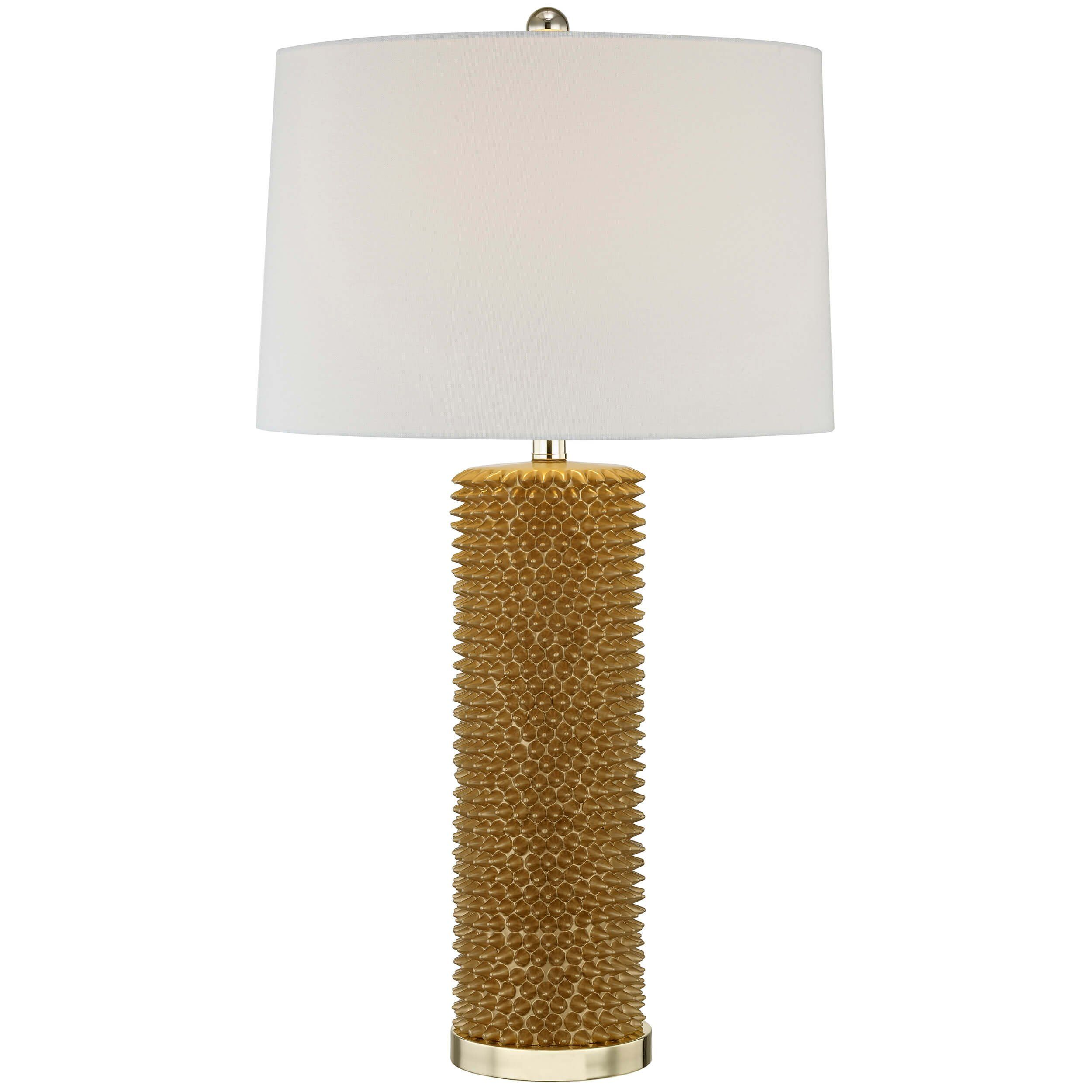 Spiked Table Lamp Gold Table Lamp Lamp Table Lamp Wood
