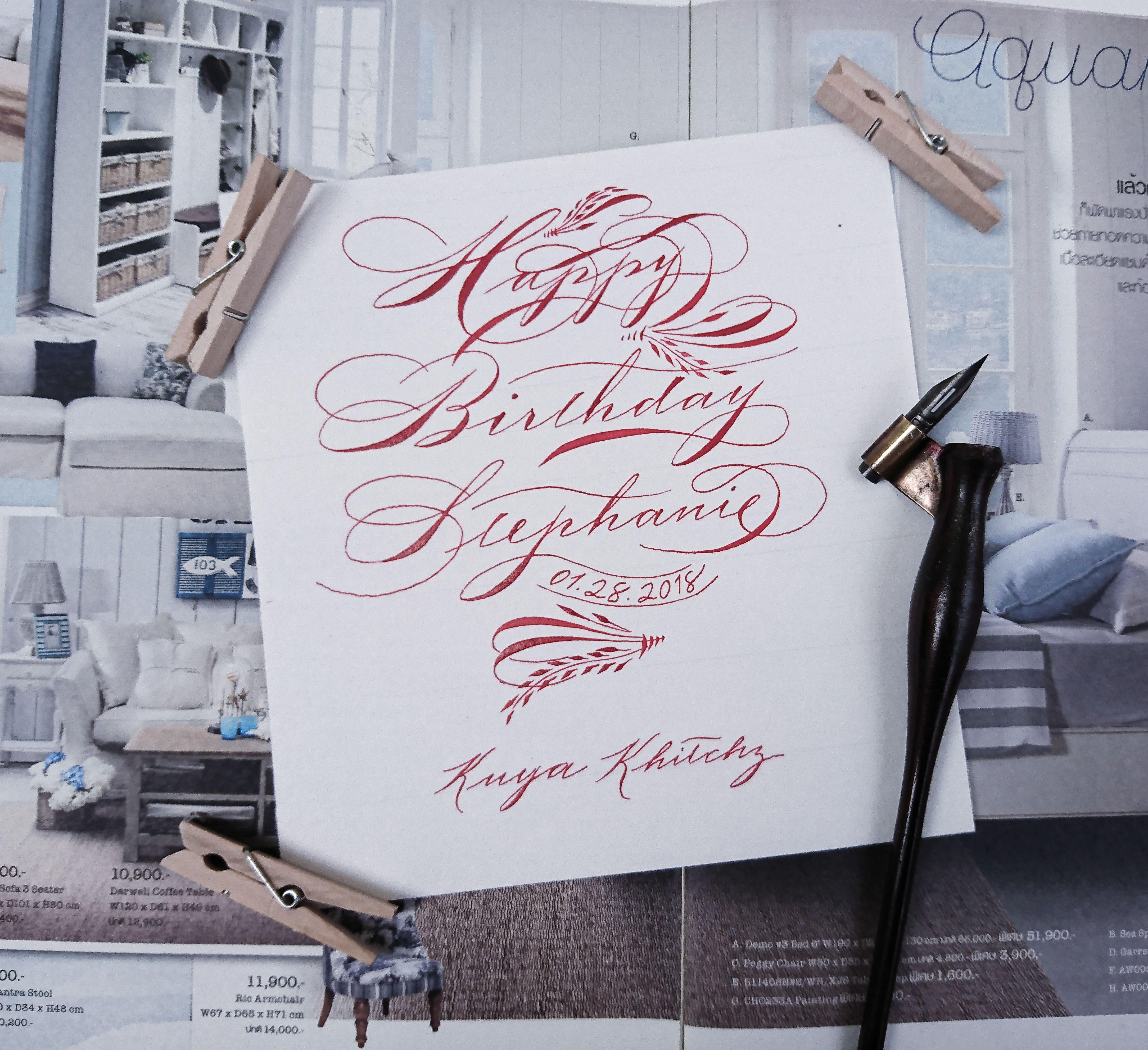 Sis Steph Calligraphy Calligraphyph Spencerian