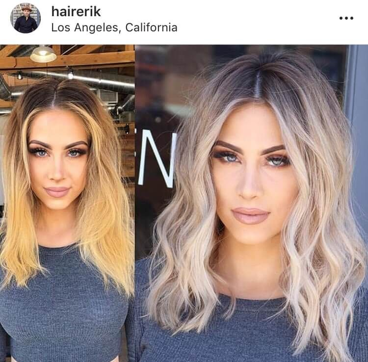 Blonde hairstyle transformations