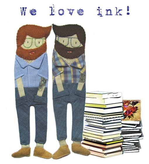 Hipster bookmark dolls by Cassia Wu…