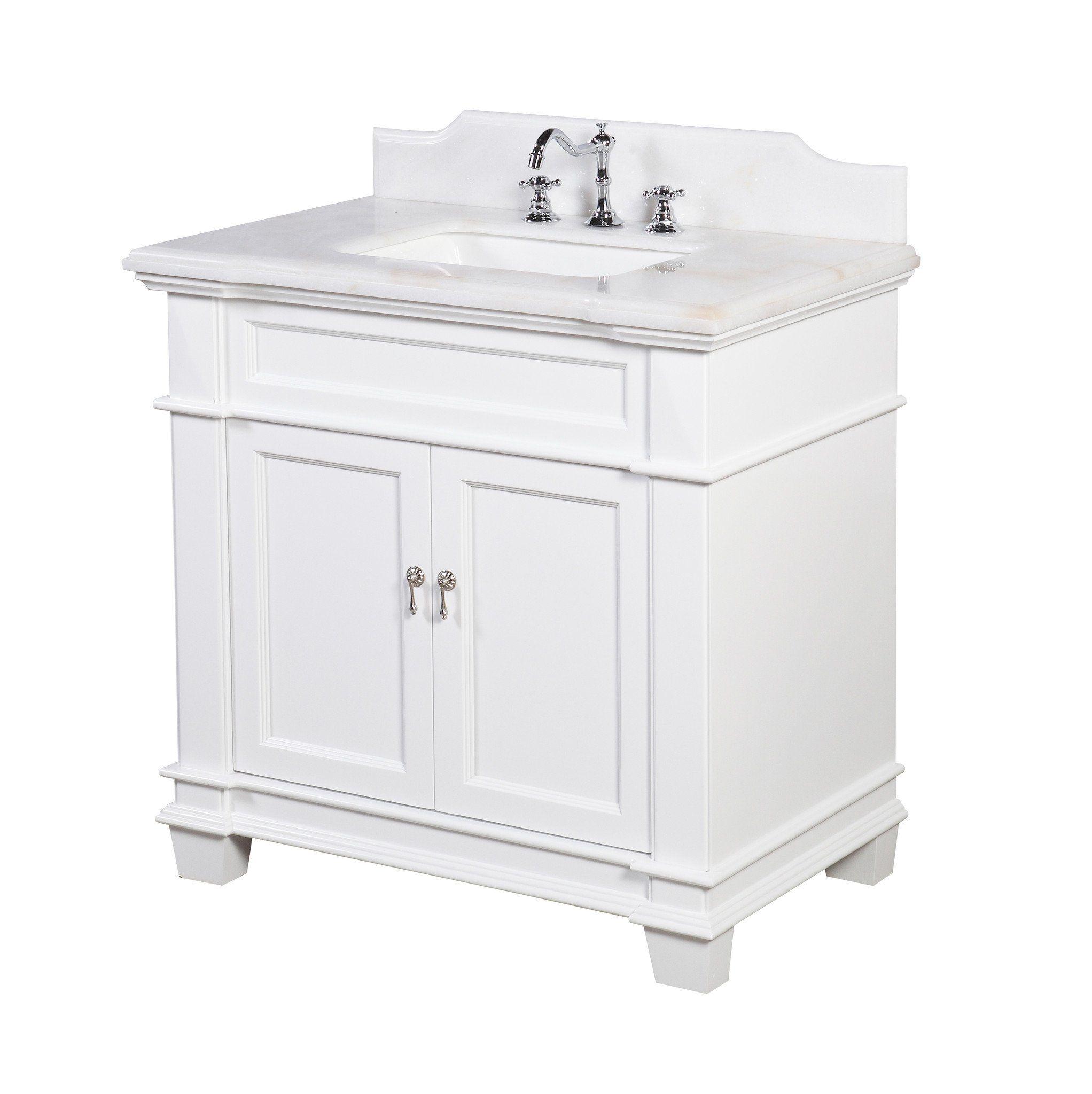 Elizabeth 36inch Vanity (White/White) KBC5936WTWT 799