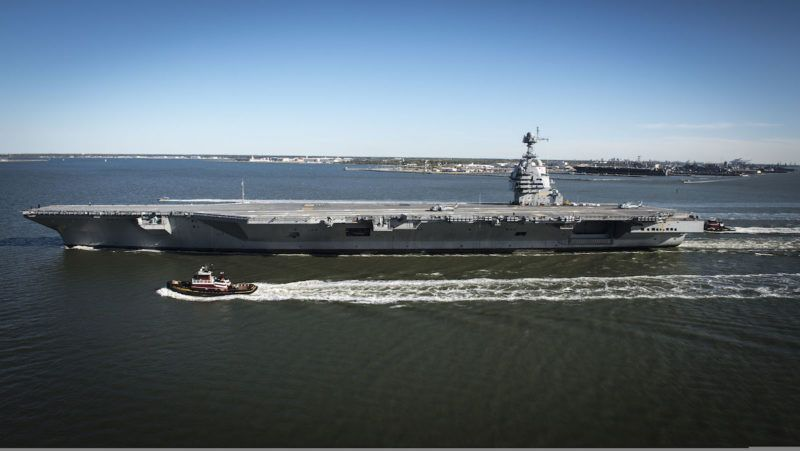 Photos Future Uss Gerald R Ford Supercarrier At Sea For First Time Aircraft Carrier Uss Ford New Aircraft